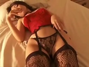 Asian, Japanese, Lingerie, Softcore, Stockings, Tease