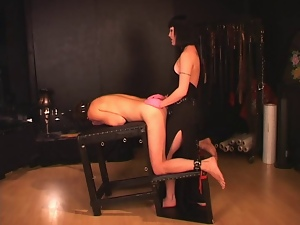 Anal, Brunettes, Femdom, Mistress, Sex toys, Slave, Strapon, Tall