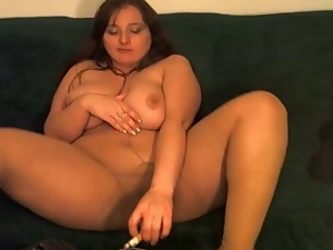 Big tits, Cigarette, Mature, Pantyhose, Smoking, Stockings, Webcam