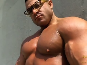 Beach, Gay, Hunk, Masturbating, Muscled