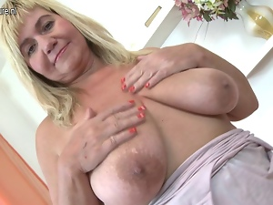 Amateur, Bbw, Granny, Masturbating, Mature, Milf, Old, Saggy tits, Tits