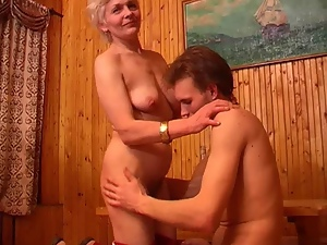 Blondes, Massage, Mature, Milf, Mom, Russian, Saggy tits, Skinny, Tits