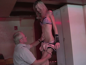 Blondes, German, Lingerie, Old man, Reality, Skinny, Small tits, Tattoo