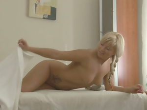 Ass, Blondes, Massage, Oiled, Pussy, Sexy, Shaved, Tattoo, Teens