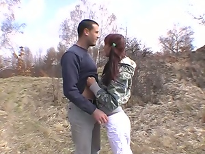 Blowjob, Doggystyle, Hardcore, Outdoor, Pigtail, Public, Redheads, Riding, Teens
