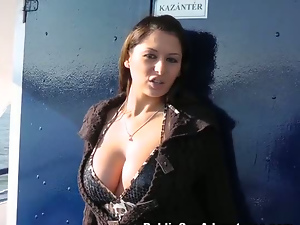 Amateur, Ass, Big cock, Blowjob, Brunettes, Busty, Doggystyle, Long hair, Outdoor, Pov, Public