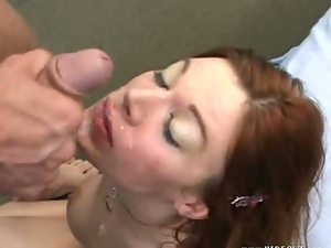 Ass, Big cock, Blowjob, Busty, Cumshots, Jerking, Long hair, Missionary, Redheads, Squirting