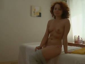 Ass, Big cock, Blowjob, Curly haired, Doggystyle, Fucking, Long hair, Massage, Pussy, Redheads, Small tits