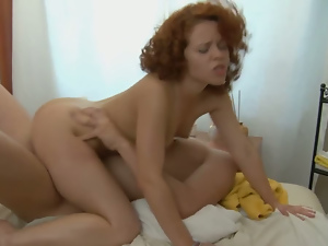 Ass, Cowgirl, Long hair, Massage, Pussy, Redheads, Riding, Small tits, Sucking