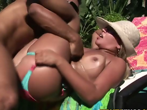 Ass, Beach, Blondes, Busty, Cowgirl, Long hair, Missionary, Outdoor, Pool, Pussy, Riding
