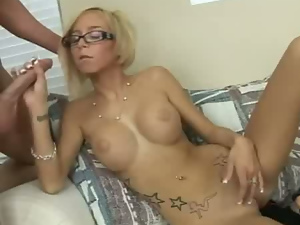 Babes, Big tits, Blondes, Blowjob, Busty, Creampie, Glasses, Homemade, Surprise