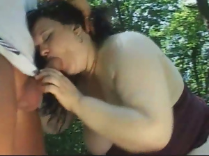 Ass, Bbw, Big cock, Blowjob, Brunettes, Busty, Fat, Kinky, Long hair, Mature, Outdoor, Pussy
