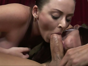 Ass, Big cock, Blowjob, Brunettes, Busty, Cocksucking, Contest, Cowgirl, Ffm, Long hair, Mom girl, Mother, Pussy, Riding, Threesome