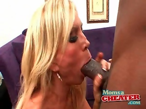 Big cock, Bimbo, Black, Dick, Fake tits, Interracial, Mom