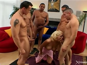 Bimbo, Blondes, Blowjob, Gangbang, Group sex, Hardcore