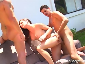 Awesome, Double blowjob, Double penetration, Penetrating, Threesome