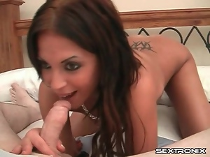 Blowjob, Brunettes, Cocksucking, On her knees, Skinny, Tattoo