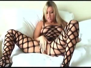 Bodystocking, Fingering, Masturbating, Stockings