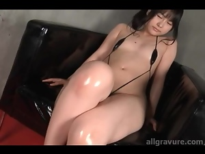 Japanese, Oiled, Small tits, Swimsuit