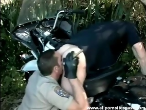 Blowjob, Cop, Dick, Outdoor, Rimjob, Sucking, Uniform