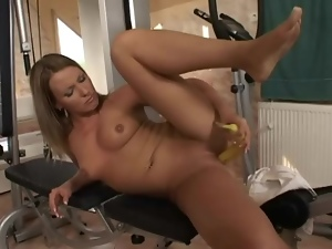 Banana, Food, Masturbating, Shaved, Wet