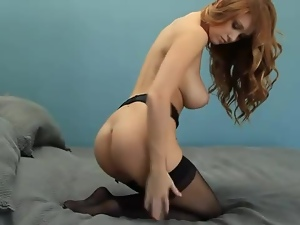 Big tits, Erotic, Garter belts, Redheads, Stockings