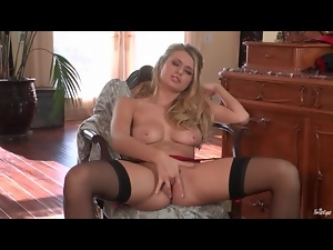 Blondes, Garter belts, Masturbating, Piercing, Stockings