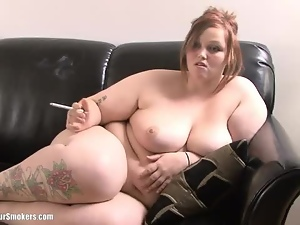 Bbw, Chubby, Cute, Nude, Smoking, Tease