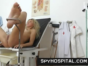 Clinic, Doctor, Gyno exam, Hidden cam, Hospital, Vagina