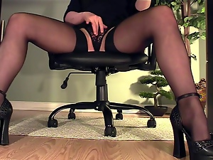 Desk, Fingering, Secretary, Stockings