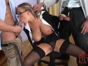 Big tits, Blowjob, Dick, Double blowjob, Double penetration, Hungarian, Secretary, Teacher