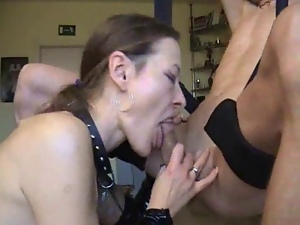 Blowjob, Cum swallowing, Deepthroat, Milf, Naughty, Wife