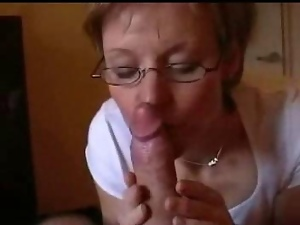 Amateur, Blowjob, Glasses, Mature, Mature amateur, Wife
