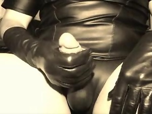 Gloves, Latex, Leather, Masturbating