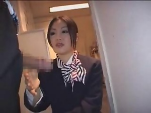 Handjob, Japanese, Stewardess