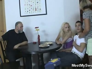 Cheating, Fucking, Grandpa, Hardcore, Licking, Party, Pussy, Swingers