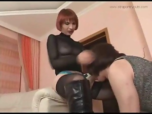Blowjob, Crossdressing, Fucking, Homemade, Strapon