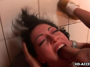 Blowjob, Brunettes, Cocksucking, Cumshots, Deepthroat, Facials, Giving head, Hd, Horny, Small tits, Throat fucked