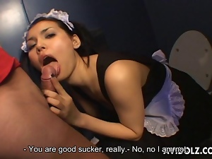 Asian, Big tits, Blowjob, Cumshots, Dick, Exotic, Facials, Japanese, Oriental, Sucking, Toilet, Uncensored, Waitress