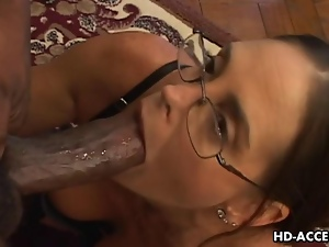 Bbc, Big cock, Experienced, Glasses, Interracial, Milk, Monster cock, Oral, Sucking