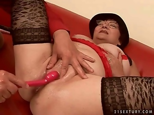 Aged, Blowjob, Cocksucking, Fucking, Grandma, Granny, Old, Sex toys, Stockings, Sucking, Ugly