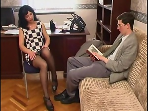 Long legged, Milf, Office, Russian