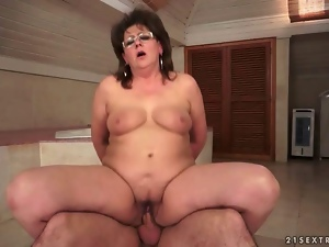Aged, Blowjob, Chubby, Cocksucking, Fucking, Glasses, Grandma, Granny, Old, Sucking, Young