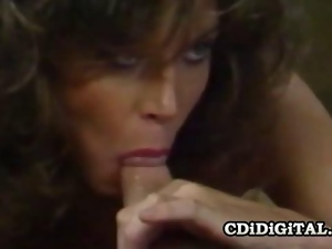 Blowjob, Brunettes, Cocksucking, Deepthroat, Face fucked, Horny, Kitchen, Pornstars, Retro, Throat fucked, Vintage