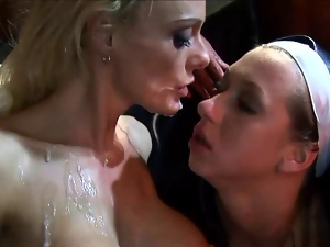4some, Blondes, British, Group sex, Hardcore, Nun, Slut, Stockings