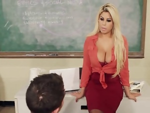 Babes, Big tits, Pornstars, Stockings, Teacher