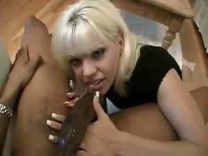Bbc, Blondes, Blowjob, Cumshots, Deepthroat, Interracial, Sloppy, Sucking