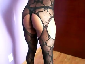 Amateur, Bodystocking, High heels, Stockings