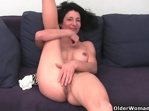 Cunt, Fingering, Granny, Hairy, Masturbating, Mature, Milf, Panties, Swollen pussy