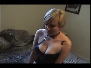 Blondes, Blowjob, Interracial, Leashed, Submissive, White